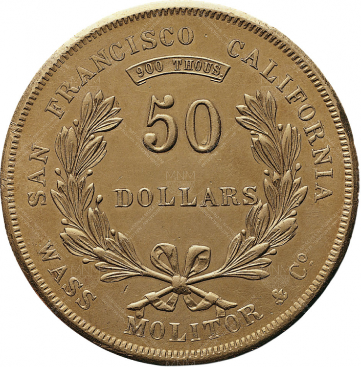 50 dollár, Wass, Molitor & Co., San Francisco, 1855